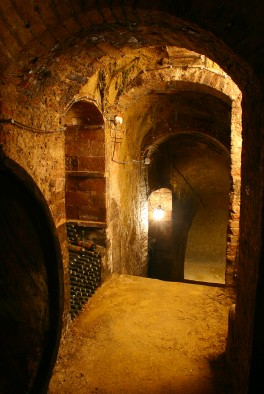 wine aging in the ancient winery