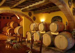 wine aging in the winery