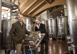 Winemaking and aging in castel di pugna