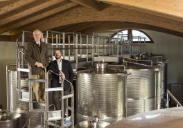 Winemaking and aging in castel di pugna winery