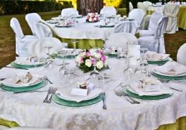 Particolare apparecchiatura matrimonio a Castel di Pugna - Siena